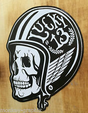 Oldschool Sticker Gentlemen Biker Bobber Aufkleber Lucky13 Harley Chopper USA