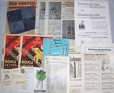 Konvolut Prospekte Reklameblätter LEITERN um 1930/35 Ebersbach Stuttgart ! (D