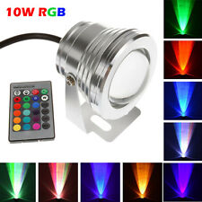 Waterproof 10W RGB LED Outdoor Colorful Changing Flood Spot light Garden Lamp IR
