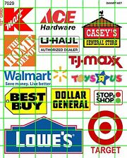 7029 DAVE'S DECALS BUSINESS SETS BIG BOX & CHAIN SIGNAGE SET DISCOUNT STORE MORE
