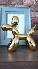 "Metallic gold resin Balloon dog ""Yappiedogs"" figurine ..pop art"