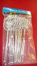 "Princess Party Favors 12 Jeweled Wands 8"" tall asst. Party Wands"