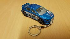 Diecast Mitsubishi Evolution X ( 10 ) Blue Toy Car Keyring Keychain NEW