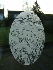 MANATEE Vinyl Window Decoration / Window Film / Static Cling 53x84cm