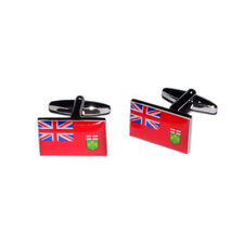 Ontario Province of Canada Coloured Flag Cufflinks & Gift Pouch