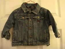 Baby U.S. Polo Assn. Slightly Distressed Denim Snap Closed Jacket Size 18 MO