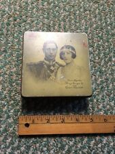 Vintage Tin Box. 1937 Coronation of King George and Queen Elizabeth Original