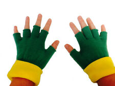 Ash Ketchum Fingerless Gloves Pokemon Go Trainer Costume Cosplay Green Adult USA