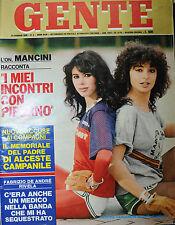 GENTE N°4/ 25/GEN/1980* PATRIZIA GARGANESE E LAURA D'ANGELO * FABRIZIO DE ANDRE'