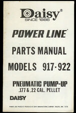 *Copy* Daisy Power Line 917/922 Pellet Rifle Gun Illustrated Parts List Manual