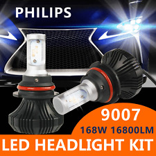 PHILIPS 168W 16800LM LED Headlight Kit 9007 HB5 Hi & Low Beams 6000K  Pair Bulbs