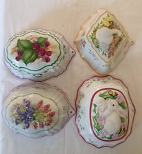 4 Jelly Moulds (Franklin Mint  - Le Cordon Bleu)