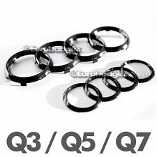 Audi Q3 Q5 Q7 Grill + Trunk Gloss Black Rings Badge Emblem Pre-Facelift Q SER GB
