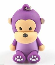 8GB baby scimmia in Silicone USB Flash Memory Drive disco STICK Shockproof SIT VIOLA
