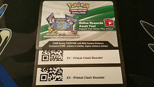 2x Primal Clash XY Booster Pack Pokemon TCG Online CODE *FREE SHIPPING*
