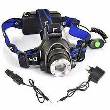 5000LM CREE XML T6 LED Adjustable 3-modes Headlamp Headlight Lamp+AC&Car Charger
