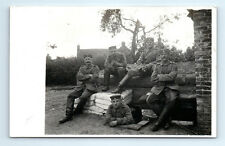 Antique WW1 GERMAN Real Photo RPPC Postcard OFFICER in UNDERGROUND BUNKER CAVE