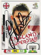 A Panini UEFA EURO 2012 card signed by James Milner of England.