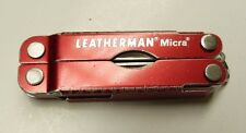 RED LEATHERMAN MICRA MULTI UTILITY POCKET TOOL KNIFE BX7