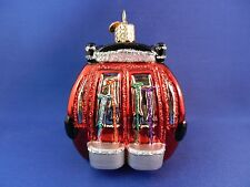 Snow Ski skiing resort Gondola Sports Old World Christmas Ornament Glass 46052