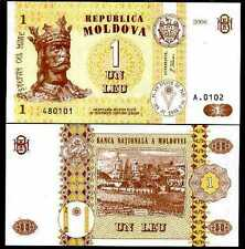 Moldova - 1 Lei - UNC currency note - 2010 issue