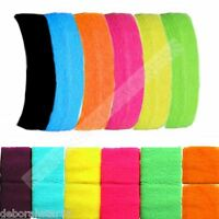 Adult Neon Colours 80s Headband 2 Wristbands Sweatbands Fancy Dress Tutu Fun Run