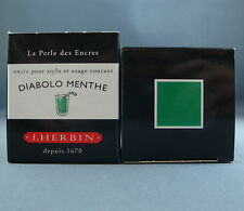 ENCRE J HERBIN COULEUR DIABOLO MENTHE CALLIGRAPHIE GREEN INK VERDE CALLIGRAPHY