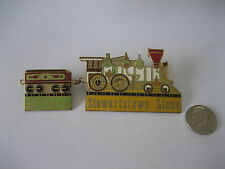 Steam Locomotive and Coal Car Pins - Lions Club - 4 inches total