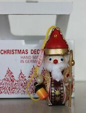 Christian Steinbach Wooden Christmas Ornament Made in Germany- Shepherd Santa