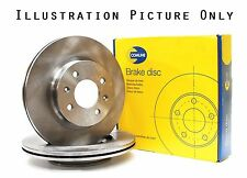 2x Genuine Comline To Fit Ford Front Axle Brake Discs Vented 258mm ADC1206V
