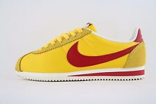 New Mens Nike Classic Cortez Nylon OG AW Yellow Red Trainers UK 8 BN 844855 750