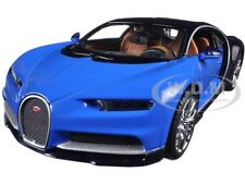 BUGATTI CHIRON BLUE / BLACK 1:24 DIECAST MODEL CAR BY MAISTO 31514