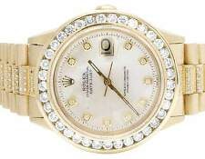 Mens Rolex 18K Yellow Gold Presidential Datejust 36MM Diamond Watch 7.5 Ct
