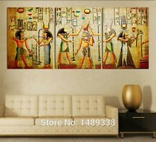 Home Decor Art Egyptian Mural Abstract Picture Canvas Wall Print Painting Modern
