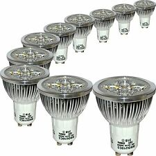 10 Energy Saving LED GU10 4W Light Bulbs 3000K Warm White Replaces 50W Halogen