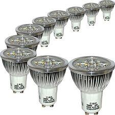 10 LED de ahorro de energía bombillas GU10 4W 3000K Blanco Cálido reemplaza a 50W Halógeno