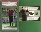 TIGER WOODS PSA MINT 9 ROOKIE CARD + TOURNAMENT WORN SHIRT CARD 2004 GOLF GEAR