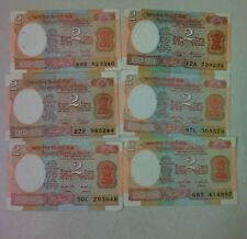 India - 2rs - Short signature set - Unc conditions  set of 6 governor