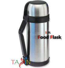 1.5L STAINLESS STEEL HOT COLD VACUUM THERMAL FOOD & DRINK FLASK TRAVEL LUNCH JAR