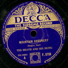 TED HEATH & HIS MUSIC  Mountain greenery / Experiment   Schellack  78rpm  X1226