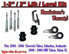 "2000 - 2006 CHEVY GMC 1500 SUVs tahoe 1-3"" Keys / 3"" Leveling Kit Tool + SHOCKS"