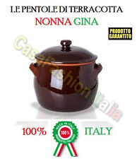 186262 PENTOLA NONNA TERRACOTTA COCCIO DM.12 PIGNATTA MADE IN ITALY CASAFASHION