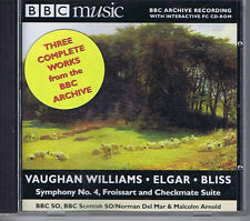 MALCOLM ARNOLD / NORMAN DEL MAR Vaughan Williams Elgar Bliss CD BBC MM80 1999