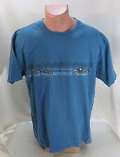 Covington T-Shirt Blue 100% Cotton Size Extra Large Motorcycles Iron Horse Rider