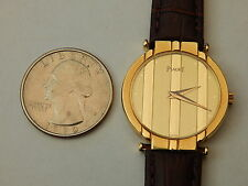 GENUINE PIAGET SOLID 18K YELLOW GOLD 27MM LADIES POLO RONDE DRESS WATCH 8P2