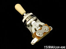*NEW 3 Position Toggle Switch for Epiphone Les Paul Guitars Chrome, Cream Tip