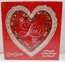 Vintage Springbok Shaped Jigsaw Puzzle - Hallmark - Over 150 Pieces Heart Shaped