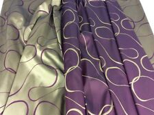 "Beautiful 58"" Wide Reversible Purple And Gold Jacquard Curtain Fabric"