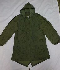 US Army Gulf War Era Desert Storm Night Camo Parka Jacket Fishtail Medium New