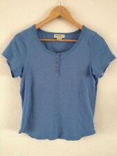 Eddie Bauer Cotton T Shirt Top Size S Blue Short Sleeve  R10644